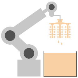 4. Enrobage céramique robotisé de la première couche