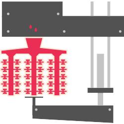 8. Coulée du métal dans le moule